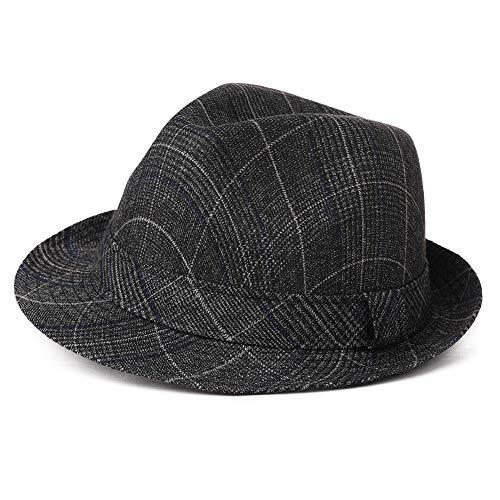 Mens Homburg Gangster Hat Fedora 1920s Derby Bowler Hat Frank Sinatra Manhattan Mafia Godfather Women Winter Accessories 99755