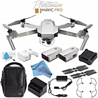 DJI Mavic Pro Platinum Fly More Combo CP.PT.00000069.01 + Deluxe Cleaning Kit + Fibercloth Bundle