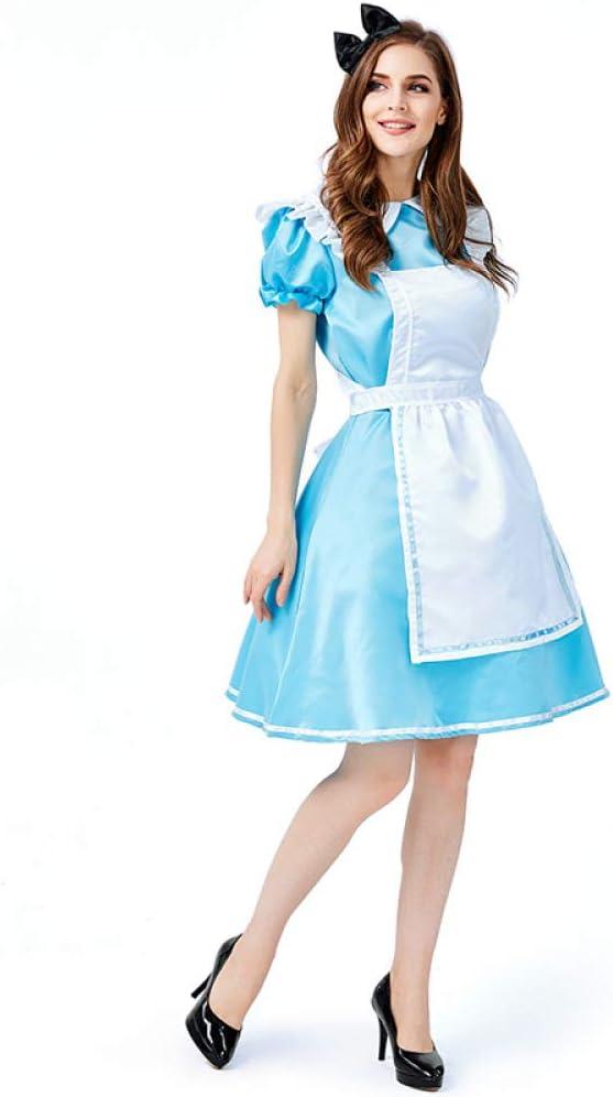 COSOER Alicia En El País De Las Maravillas Maid Cosplay Disfraz ...