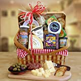 Artisan Assortments California Cheese and Crackers Gourmet Gift Basket | Christmas Gift Idea