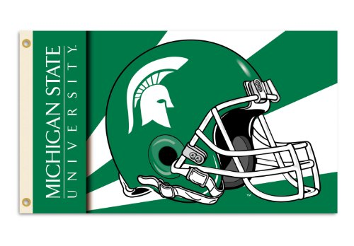 (NCAA Michigan State Spartans 3-by-5 Foot Flag with Grommets - Helmet)