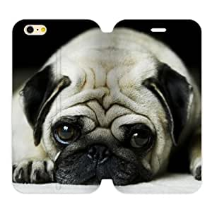 "Pug Puppy Dog New Design Back Cover TPU (Laser Technology) Case Skin for iPhone6 Plus 5.5"" Flip Case"