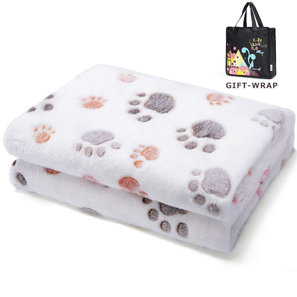 Allisandro Manta Perro Cojin con Huellas de Patas Pintadas Cama para Animales Beige M: Amazon.es: Productos para mascotas