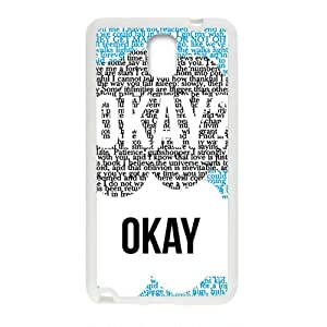 Okay Fashion Comstom Plastic case cover For Samsung Galaxy Note3