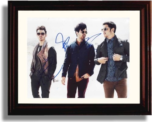 Framed Jonas Brothers Autograph Replica Print