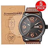 [5-Pack] For Citizen BM8475 Watch Screen Protector, Full Coverage Screen Protector for Citizen BM8475 Watch HD Clear Anti-Bubble and Anti-Scratch