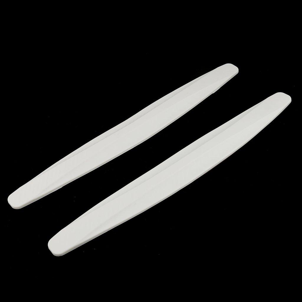 Gazechimp 2 Piezas de Pegatinas para Carrocer/ía Parachoques F/ácil de Pegar Protecci/ón Segura de Blanco Caucho Decorar Coches
