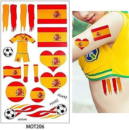 HXMAN 8 Países Diseño 2 Mesa 2018 Copa Mundial De Fútbol Tatuaje Pegatina Estacas Alemán Rusia Temporal Diy Cuerpo Tatuaje (2 Pack) MOT206 España: Amazon.es: Belleza