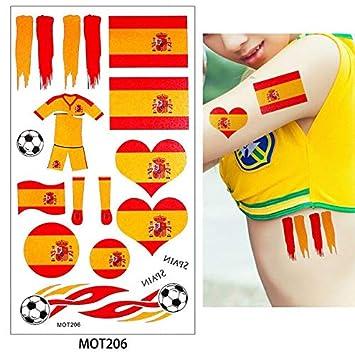 HXMAN 8 Países Diseño 2 Mesa 2018 Copa Mundial De Fútbol Tatuaje ...