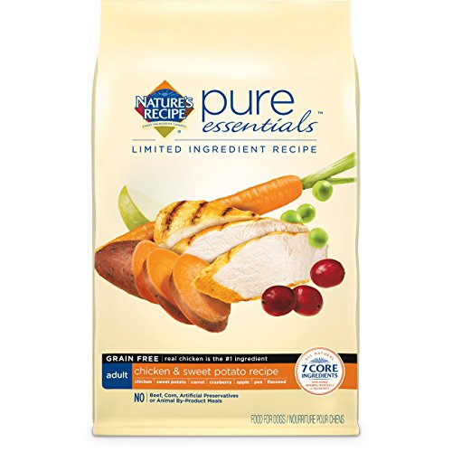 Nature's Recipe Pure Essentials Grain Free Adult Chicken and Sweet Potato Dry Dog Food, 24-Pound