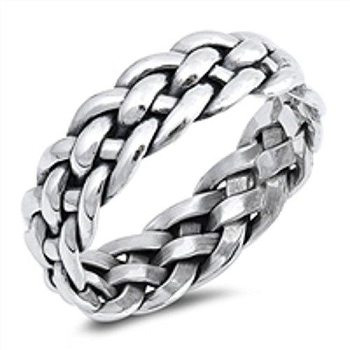 Braided Band Ring Size 10 (Infinite Braid Ring)