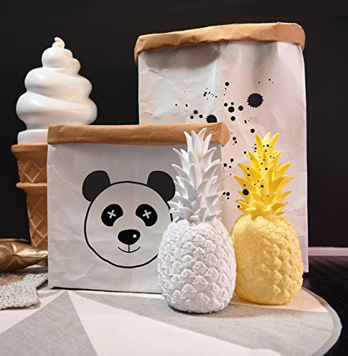 Toy Storage, Kids Room Panda Decor, Toy Bag, Nursery Storage, Storage Bags, Kraft Paper Bag, Storage Basket, Toy Box, Nursery Decor