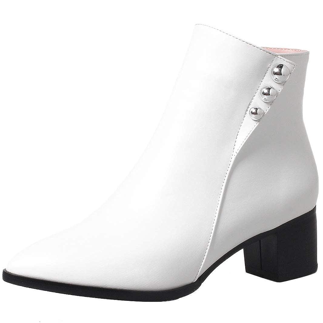 Mavirs Womens B07GJ6M9SW Mabei Block Heel Ankle-high 4.8 cm Boots B07GJ6M9SW Womens Boots 7a4477
