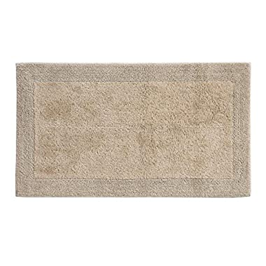 Grund Certified 100% Organic Cotton Reversible Bath Mat, Puro Series, 17-Inch by 24-Inch, Driftwood