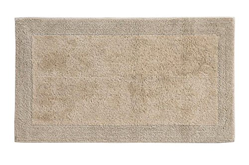 Grund Puro Series 100% Organic Cotton Reversible Bath Rug, 21-inch by 34-inch, Driftwood