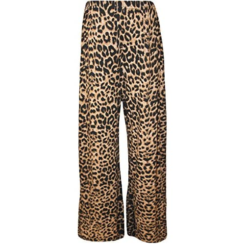 e1d33ed2ed5 lovely WearAll Plus Size Women s Print Palazzo Trousers - Brown Leopard -  US 20-22 (UK 24-26)