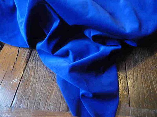 Pre cut (separately packaged) 1m Piece of Royal Blue Pure Cotton Lighweight Dressmaking Velvet / Velveteen Fabric 44