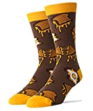 Oooh Yeah Men's Crew Funny Novelty Socks Grilled Cheese
