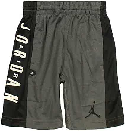 a9861987f92ff4 Jordan Nike Air Boy s  Highlight Dri-Fit Athletic Mesh Basketball Shorts (6  (