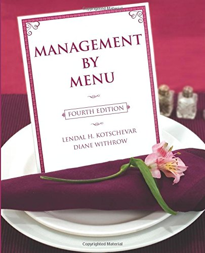 Management by Menu by Kotschevar, Lendal H./ Withrow, Diane (Image #3)