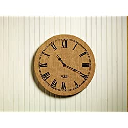 The Market Street Burlap Wall Clock