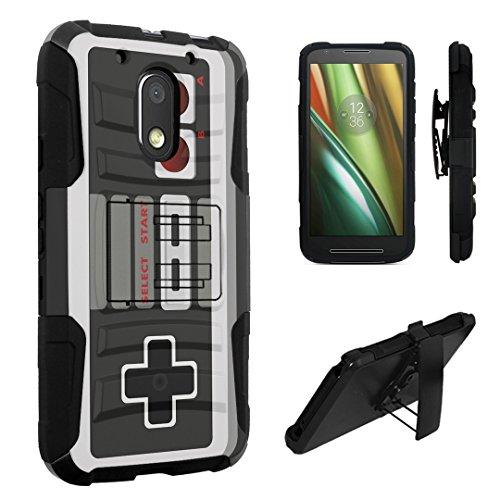 Moto G4 PLAY Case, Moto E3 Case, DuroCase Hybrid Dual Layer Combat Armor Style Kickstand Case w/Belt Clip Holster for Motorola Moto G4 Play / Moto E3 (2016) - (Game Controller)