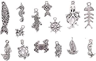 KeyZone Wholesale 100 Pieces Mixed Charms Pendants DIY for Jewelry Making and Crafting