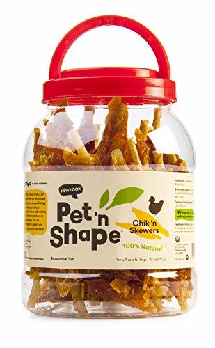 Pet 'n Shape Chik 'n Skewers Natural Dog Treats, 2-Pound Tub ()