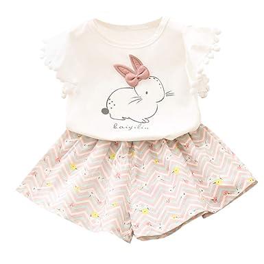 LINSINCH Conjuntos de Ropa para bebés niña Conejo Imprimir T ...