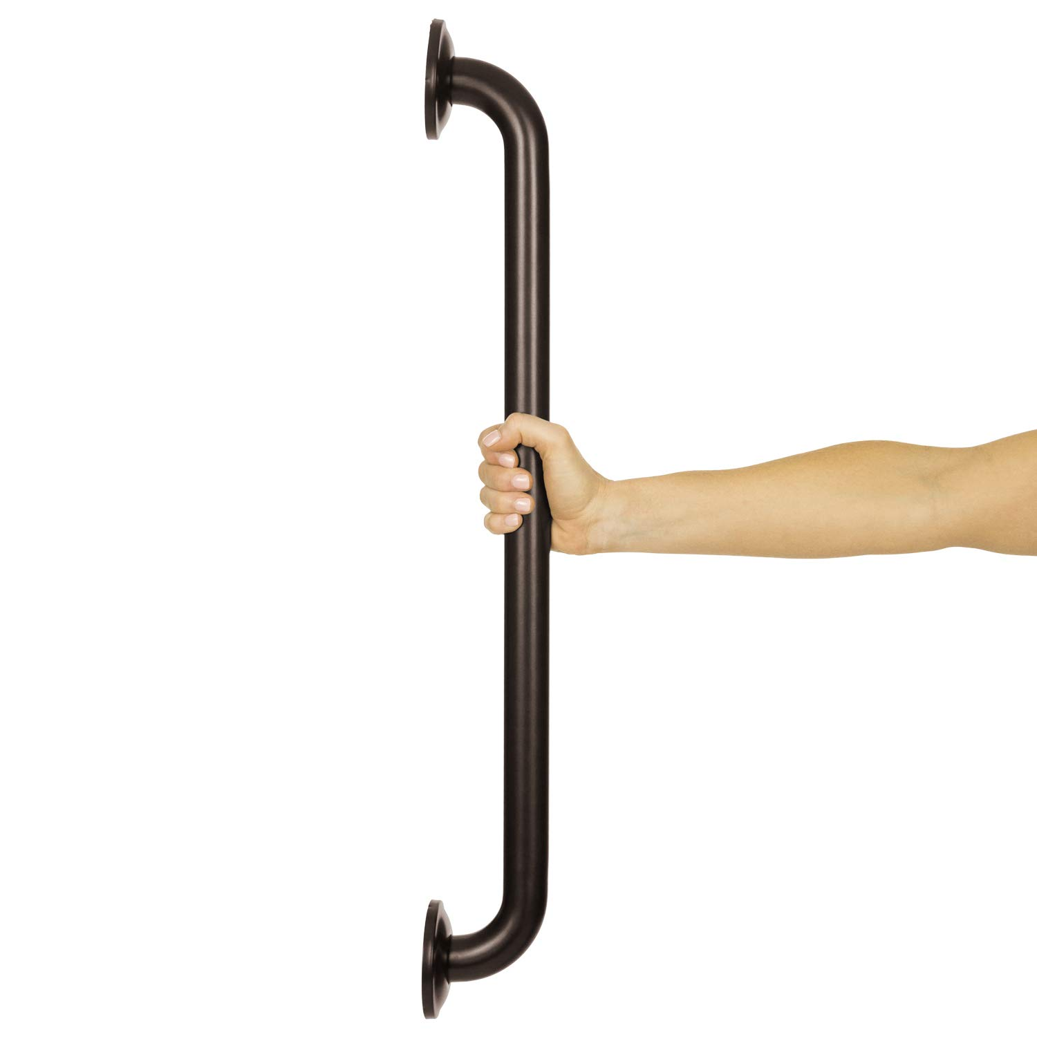 Vive Metal Grab Bar - Balance Handrail Shower Assist - Bathroom, Bathtub Mounted Safety Hand Support Rail - Stainless Steel Wall Mount for Handicap, Bath Handle, Elderly, Disabled, Injury (24 Inch)