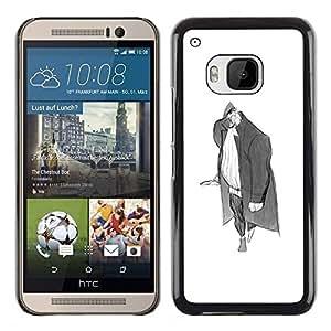 "For HTC One ( M9 ) Case , Hombre Escudo Medieval Merchant Art Dibujo Lápiz"" - Diseño Patrón Teléfono Caso Cubierta Case Bumper Duro Protección Case Cover Funda"
