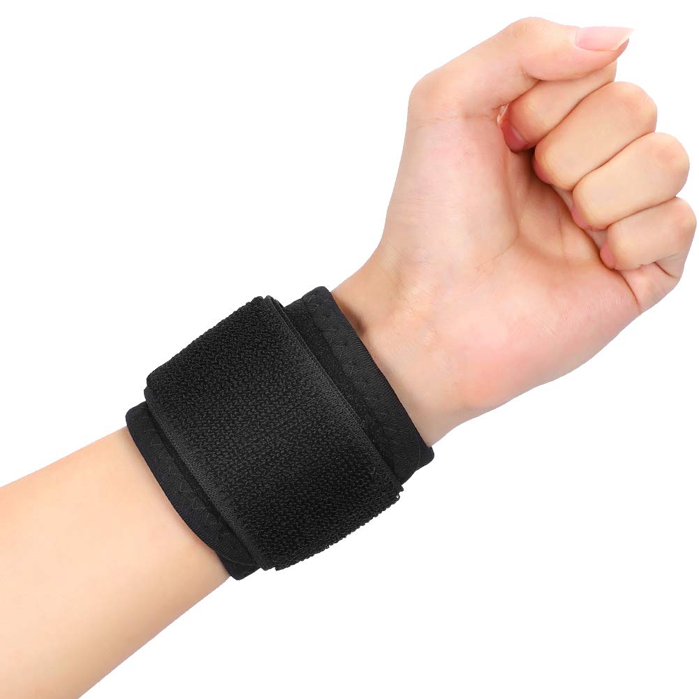 Breathable Wrist Brace, Adjustable Wrist Wrap with Elastic Compression Strap, Wrist Band for Carpal Tunnel, Arthritis, Tendonitis, Wrist Fracture and Sprain Pain Relief, Fits Left or Right Hand