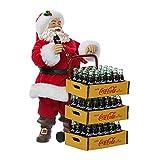 Kurt Adler CC5151 Coca-Cola Santa with Delivery Cart, 10.5-Inch, Set of 2