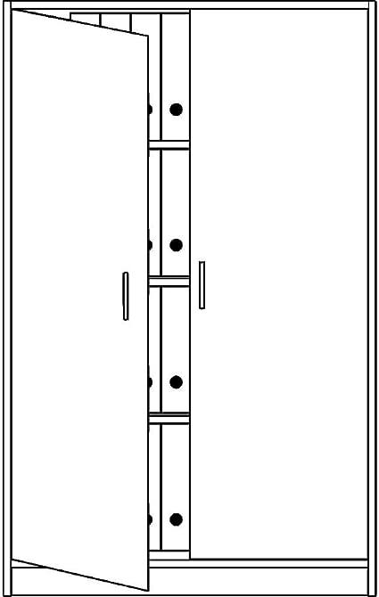 Office akktiv Estado Oficina – Armario con puertas correderas, 3 ...