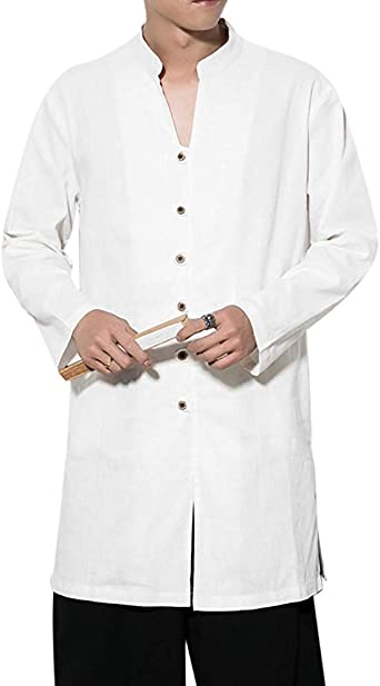 Abrigo De Hombre China De Lino Chaqueta Tradicional Ocio Mode ...
