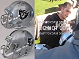 Derek Carr, Oakland Raiders, Signed, Autographed, Full Size Speed Football Helmet, a COA with the Proof Photo of Derek Signing the Helmet Will Be Included
