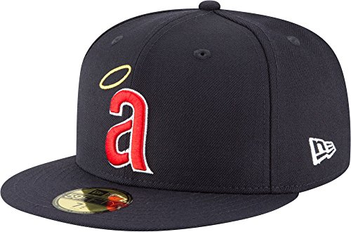 New Era 59Fifty Hat California Angels Cooperstown 1971 Wool Navy Blue Fitted Cap (7 1/2) ()