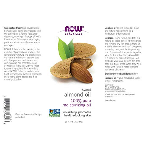Now Foods Almond Oil Pure 473 Ml