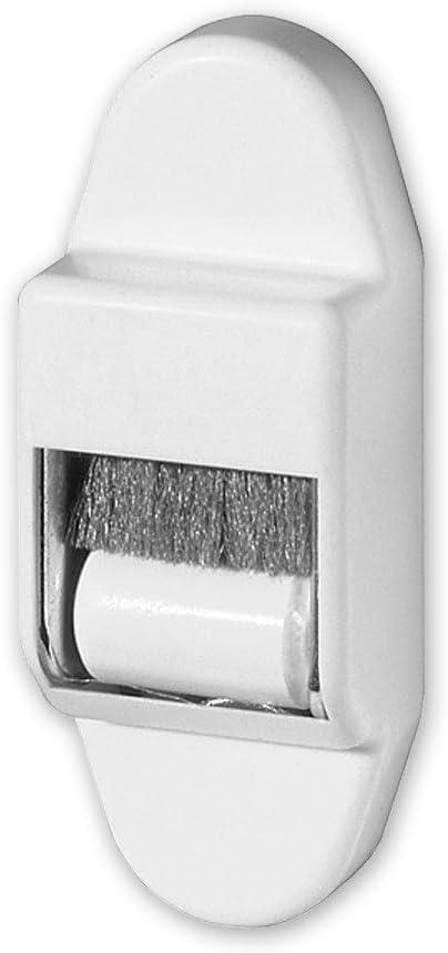 Energieeinsparung von EVEROXX bis 15 mm Gurtbreite Rolladengurt Mini-Gurtf/ührung mit B/ürstendichtung und Leitrolle