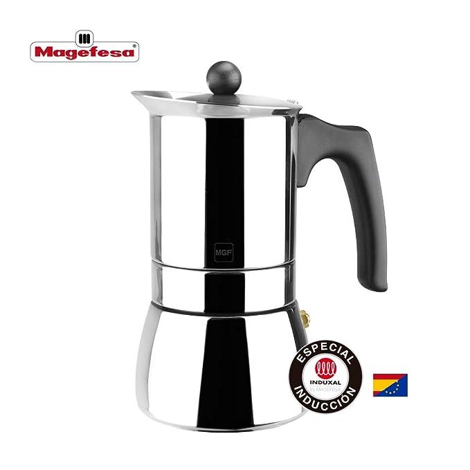 MAGEFESA Genova – La cafetera MAGEFESA Genova está Fabricada en Acero Inoxidable 18/10, Compatible con Todo Tipo de Cocina. Fácil Limpieza