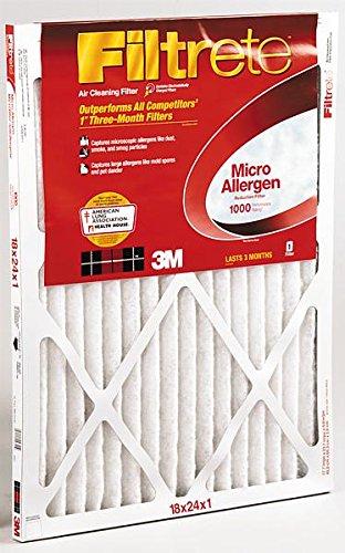 """3m Filtrete Air Filter 18 """" X 24 """" X 1 """" Fiberglass Merv 11"""