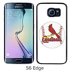 Fashionable Custom Designed Skin Case For Samsung Galaxy S6 Edge With St Louis Cardinals Black Phone Case
