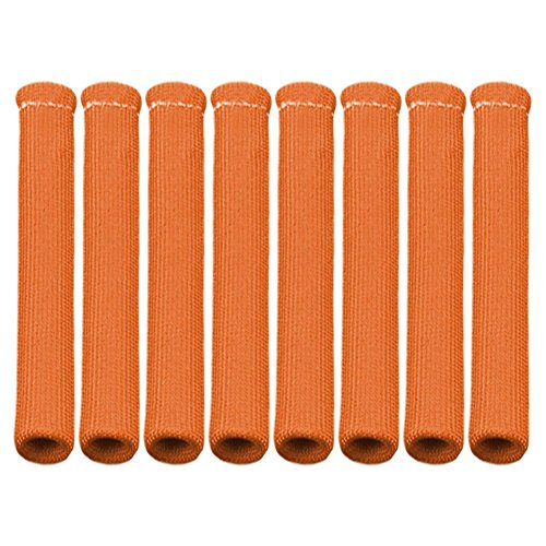 ZHUOTOP Available Color 1200° Spark Plug Wire Boots Heat Shield Protector Sleeve SBC BBC 350 454Orange Red