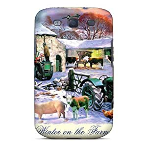 Hot GCZTWQc7546cFKcN Winter On The Farm Tpu Case Cover Compatible With Galaxy S3