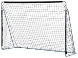 KLB Sport 10′ x 6.7′ Steel Soccer Goal W/Net (Black) For Sale