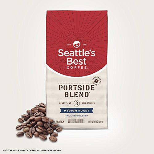 Seattle's Best Coffee Portside Blend Medium Roast Whole Bean Coffee, 12-Ounce Bag