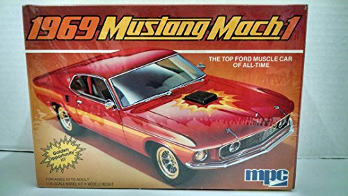 MPC 1-0731 1969 Mustang Mach 1 1:25 Scale Plastic Model Kit - Requires Assembly