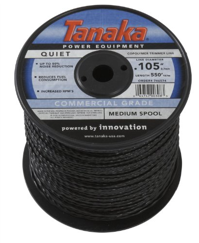 Tanaka 746574 .105-Inch 550-Feet Trimmer Line Spool, Black by Hitachi