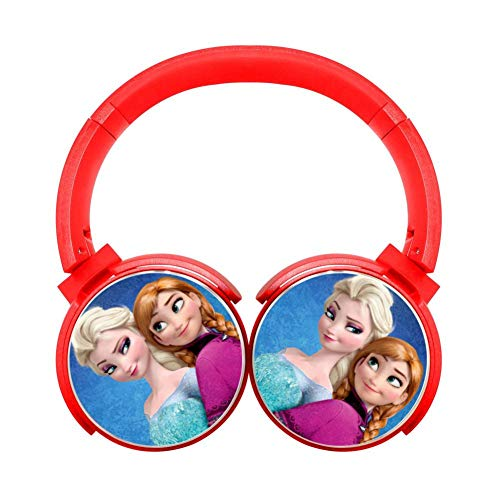 Cartoon-Frozen Wireless Bluetooth Portable On-Ear Earphones Adjustable Hi-Fi Headphones Foldable Sound Proof Headset Best Gift for Teens - And Frozen Microphone Radio