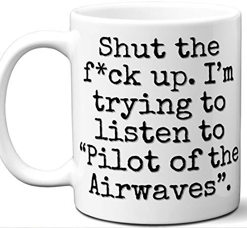 Pilot of the Airwaves Song Gift Mug. Funny Parody Lover Fan